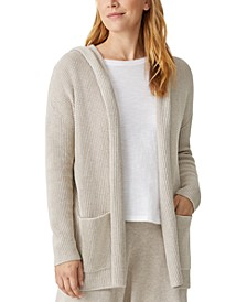 Organic Cotton Hooded Cardigan