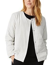 Round-Neck Quilted Jacket