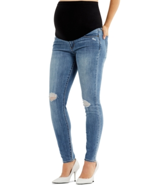 Sarah Secret Fit Belly Ripped Skinny Maternity Jeans