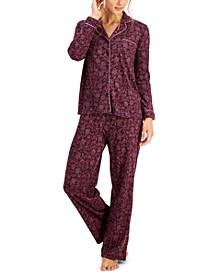 Soft Brushed Cotton Pajama Set, Created for Macy's
