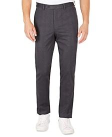 MKTECH Men's Navy Plaid Knit Modern-Fit Suit Pants