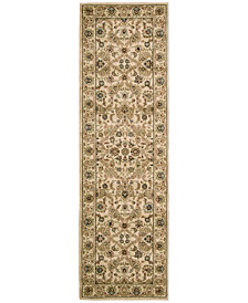 "kathy ireland Home Lumiere Royal Countryside Beige 2'3"" x 7'9"" Runner Rug"