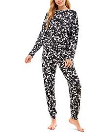 Printed Crew Neck and Jogger Pajama Set