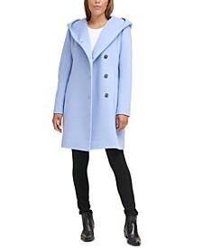 Asymmetrical Hooded Walker Coat