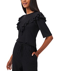Ruffled Ribbed Top, Created for Macy's