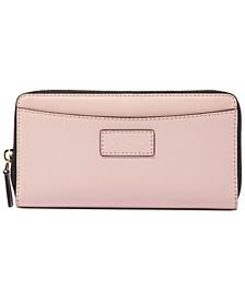 Vertical Zippy Leather Wallet