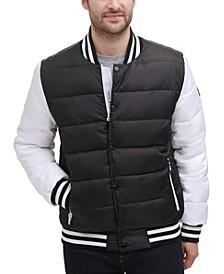 Men's Quilted Varsity Bomber Vest