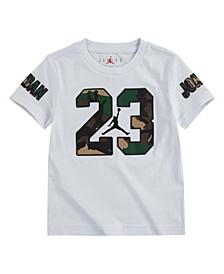 Big Boys Short Sleeves Woodland Camo 23 Logo Graphic T-shirt