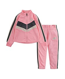 Toddler Girls Go For Gold Tricot Jacket and Matching Pant Set, 2 Piece
