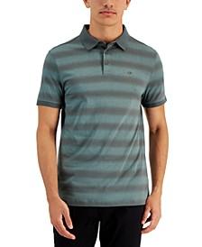 Men's Liquid Touch Gradient Stripe Pima Cotton Polo Shirt