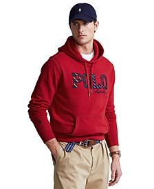 Men's Striped-Logo Fleece Hoodie