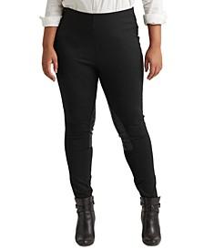 Plus-Size Ponte Jodhpur Skinny Pants