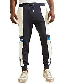 Men's Todd Logo Colorblock Zip-Cuff Jogger Pants