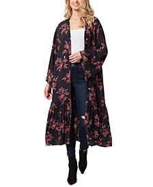 Leilani Floral-Print Cotton Kimono