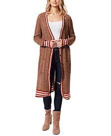 Brielle Striped Ribbed Cardigan