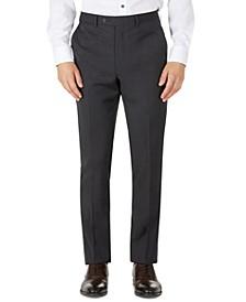 Men's Mini-Check Skinny-Fit Wool Blend Suit Pants