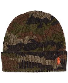 Men's Camo Cable-Knit Beanie Hat