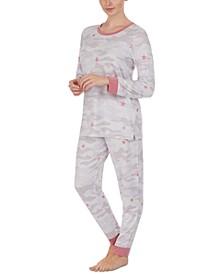 Printed Top & Jogger Pants Loungewear Set