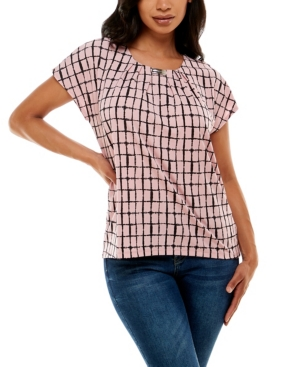 Women's Dolman Sleeve Top with Curved Bar