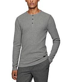 BOSS Men's Henley-Neck Slim-Fit T-Shirt