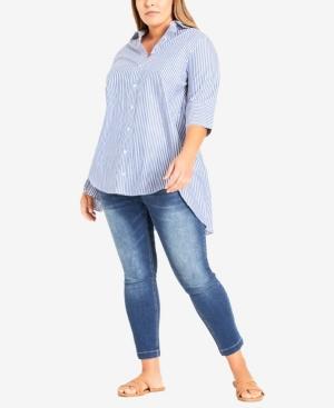 Plus Size Cotton Relax Shirt