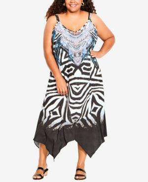 Plus Size Elora Trapeze Maxi Dress