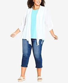 Plus Size Embroidered Denim Crop Jeans