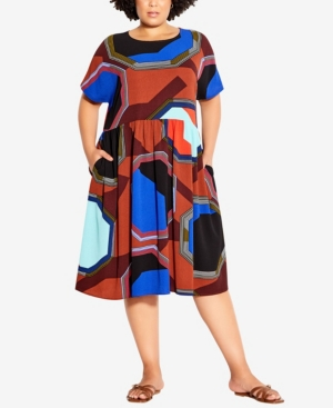 Plus Size Dolled Up Print Dress