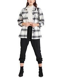 Cotton Plaid Shirt Jacket