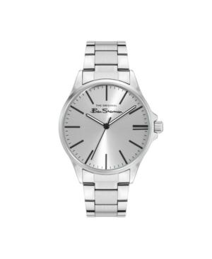 Men's Three Hands Silver-Tone Stainless Steel Bracelet Watch 41mm