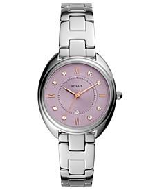 Women's Gabby Three Hand Movement Silver Tone Stainless Steel Bracelet Watch 34mm