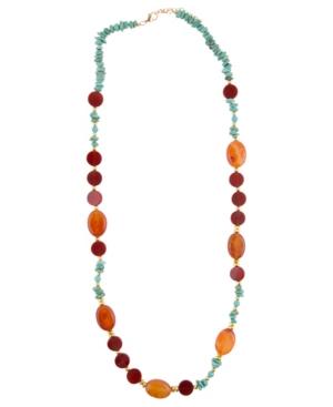 Women's Out West Faux Stone Long Necklace