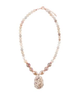 Women's Roman Faux Stone Statement Necklace