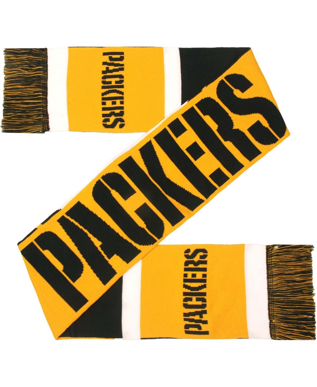 Foco Green Bay Packers Reversible Colorblock Scarf