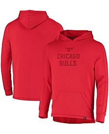 Branded Men's Chicago Bulls Versalux Running Hard Tri-Blend Pullover Hoodie