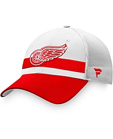 Branded Men's Detroit Red Wings 2021 NHL Draft Authentic Pro On Stage Trucker Snapback Hat