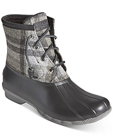 Women's Saltwater Plaid Duck Boots