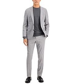 HUGO Men's Slim-Fit Plaid Suit Separates