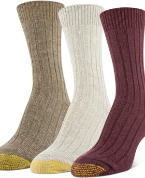 3-Pk. Marled Ribbed Crew Socks