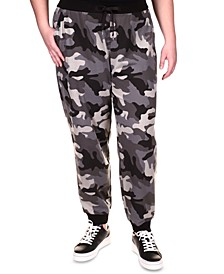 Exclusive Plus Size Printed Joggers