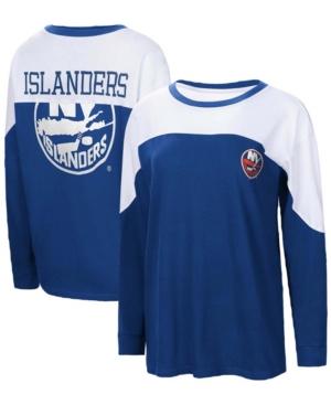 Women's Royal New York Islanders Pop Fly Long Sleeve T-shirt