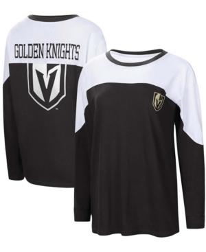 Women's Black Vegas Golden Knights Pop Fly Long Sleeve T-shirt