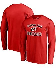 Men's Red Carolina Hurricanes Victory Arch Long Sleeve T-shirt