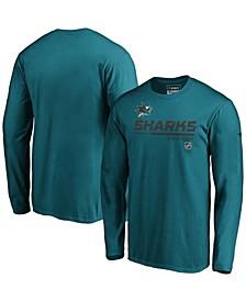 Men's Teal San Jose Sharks Authentic Pro Core Collection Prime Long Sleeve T-shirt