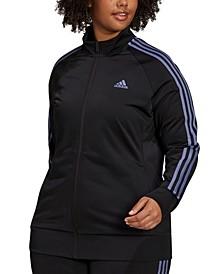 Plus Size Tricot Track Jacket