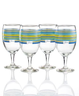 Lapis Stripe Set of 4 Goblets