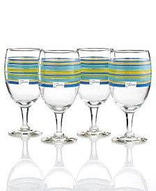Fiesta Lapis Stripe Set of 4 Goblets