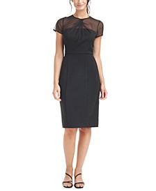 Illusion Sheath Dress