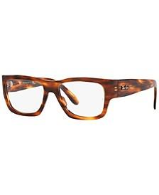 RX5487 Nomad Optics Unisex Square Eyeglasses