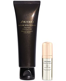Shop More. Earn Even More. Receive a Full-Size Future Solution LX Extra Rich Cleansing Foam and Legendary Enmei Ultimate Luminance Serum with any $275 Shiseido Purchase (Total gift up to a $371 Value!)*